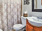 Freshen up in this second full bathroom.