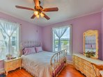 Those staying in the Lilac room will love the plush queen bed.