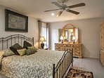 With an en-suite bathroom and king-sized bed, you'll love the master bedroom.