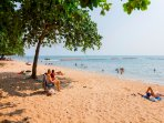 The best beach in Pattaya at our back gate entrance.