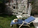 Enjoy the sun in the private garden