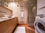 Bathroom with a washer/dryer