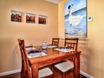 Dining area has seating for 4 guests. (1st floor)