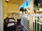 Balcony has courtyard view. (1st floor)