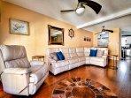 Plenty of seating in the living room. (1st floor)