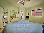 Master bedroom has flat screen TV and access to private balcony. (2nd floor)