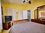 Guest room has flat screen TV and storage space. (2nd floor)