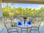 Enjoy your morning coffee on your private second floor lanai overlooking beautiful Napili Shores grounds including...