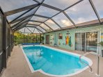 Look forward to splashing around in a private pool at this 3-bedroom, 2-bath vacation rental home in Bonita Springs!