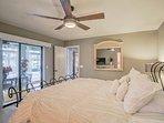 Sleep easily beneath the ceiling fan.