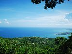 Expansive Caribbean Sea views from Point of View