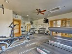 Blow off some steam in this well-equipped fitness facility.