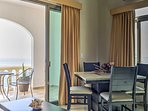 Let the cool ocean breeze sweep through the condo through the large sliding glass doors that lead to the balcony.