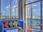 Grab your favorite book and curl up on the comfy furnishings throughout the lobby sporting stunning views.