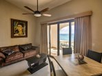 Try a new seafood recipe to serve at the sleek dining table with seating for 4.