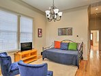 Relax in the comfortable living room space with your group!