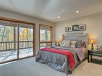 Another queen bed is available in this spacious third bedroom.