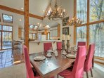 Special occasions can be celebrated around this 6-person formal dining table.