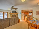 The 1,200 square feet of living space provides up to 6 guests with a comfortable vacation.