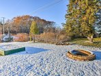 Enjoy the warmth of the fire pit in summer or winter!
