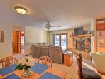 Savor homemade meals around the 4-person dining table.