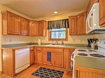 Essential appliances and ample counter space makes cooking a breeze.