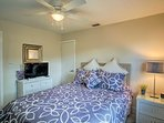 Cozy bedroom 3 features a queen-sized bed, flat-screen cable TV, and vibrant decor!