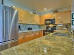 The kitchen comes fully equipped to create your favorite culinary masterpieces.