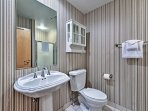 This home boasts 4 full bathrooms!