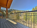 Enjoy beautiful views of the ski slopes while you unwind on the private deck.
