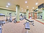 Stay fit during your vacation and make good use of the exercise room.