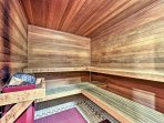 Enjoy a revitalizing cleanse at the sauna!