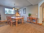 This 8-person dining table is the perfect place to gather for a home-cooked meal.