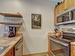 Kitchen - Stainless steel appliances.