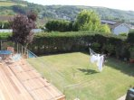 Decking & garden with views of Gorran Haven & the countryside (new patio furniture not shown here)