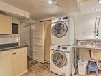 A laundry room adds extra convenience to your stay!