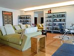 FASCINATING LIBRARY ROOM AND OFFICE WITH POOL & SEA VIEW