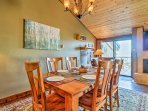 Savor meals around this 6-person dining table.