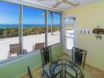 Lanai, right off the living room with spectacular view of the Gulf - walk right out onto the sand!