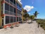 Walk right out onto the sand from the Lanai of your unit!