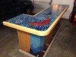 Handmade tile mosaic bar