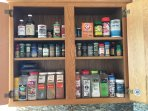 Spice cabinet for guest use