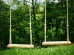 Children can enjoy the swings