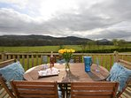 Relax on the decking and admire the views