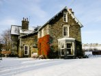 Winter time at the pretty victorian house