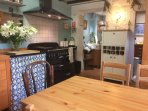 The dining area in the kitchen is perfect for cooking and chatting