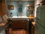 The kitchen is fully modernised yet retains the traditional features of a cottage kitchen