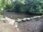 The stepping stones across the river Tame in Uppermill are a favourite with children
