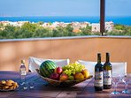 Enjoy your coffee or wine with sea view on our balcony!