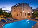Outdoor area with swimming pool, located in Prines village close to Rethymno city and the beach